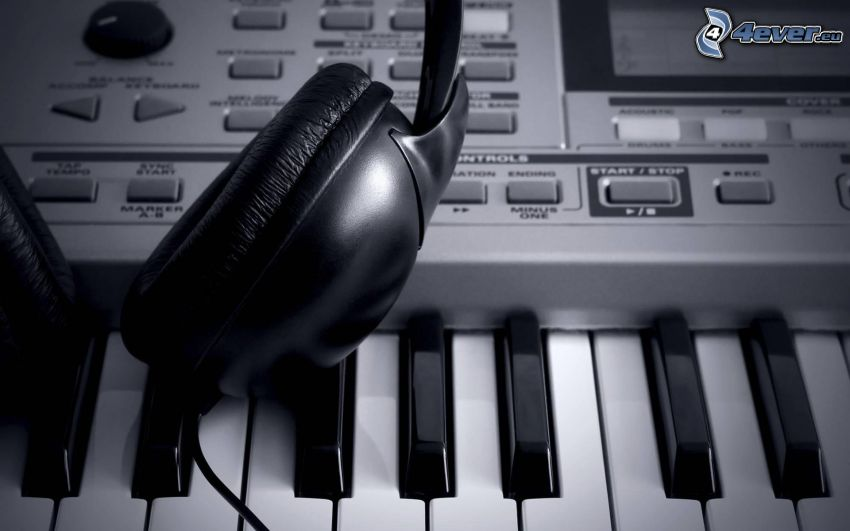 hörlurar, piano