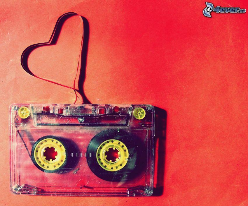 I Love Music, kasettband, hjärta