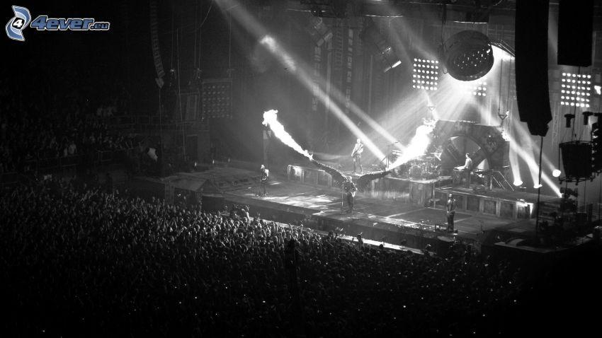 konsert, enormt party