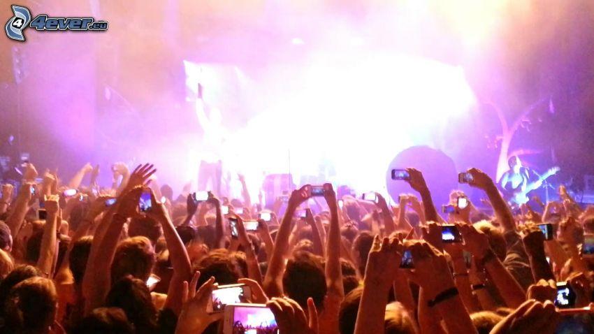konsert, Imagine Dragons, händer, folkmassa