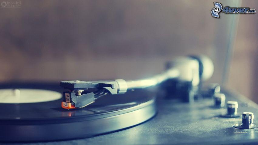 LP-skiva, grammofon