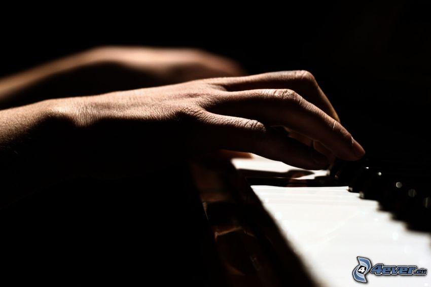 pianospel, händer