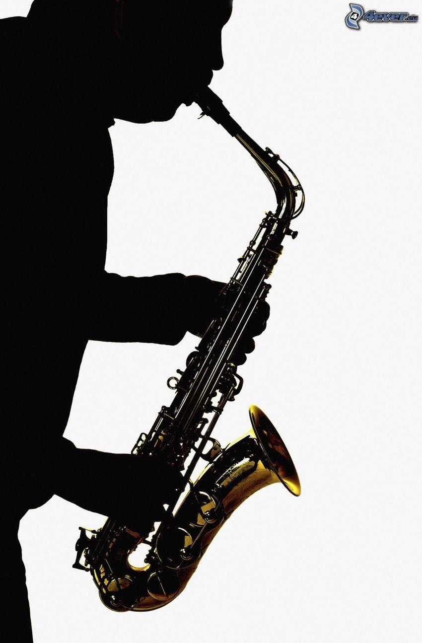 saxofonist, saxofon