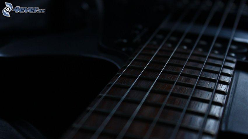 strängar, gitarr