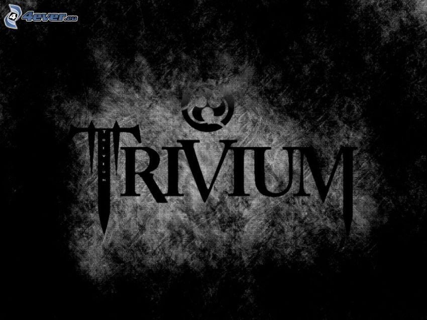 Trivium, logo, svart och vitt