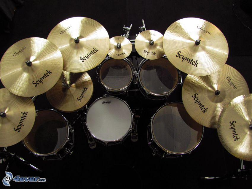 trummor, cymbaler