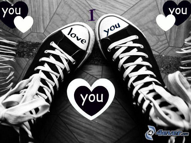 Converse, I love you, hjärta