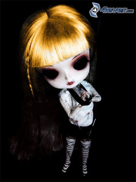 emo figur, gothic, marionett