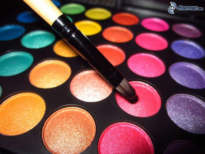färger, pensel