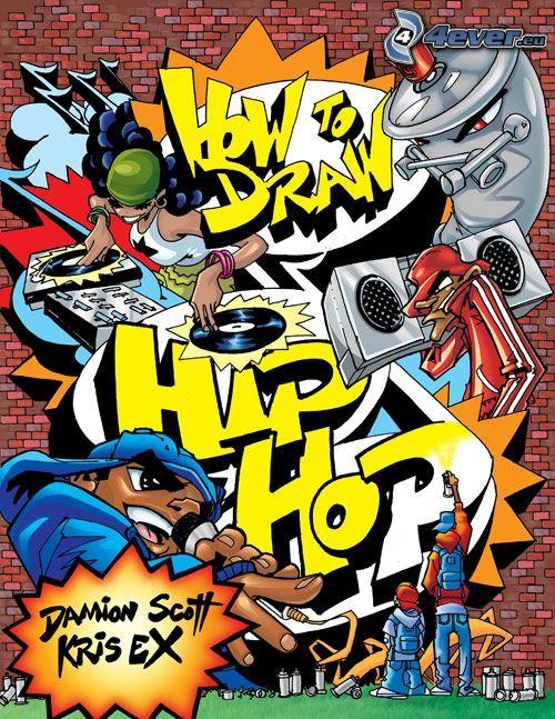 graffiti, sprej, hip hop, collage