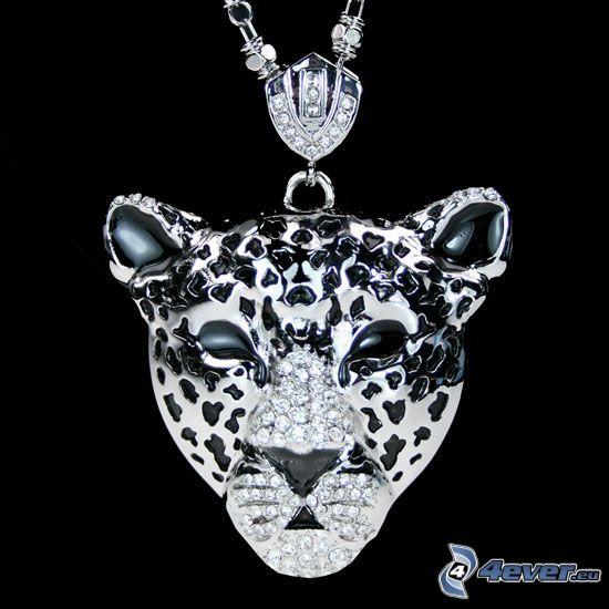 ädelsten, tiger, silverhänge, smycke