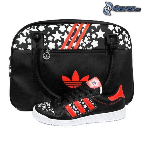 Adidas, sko, väska, tennissko, skor