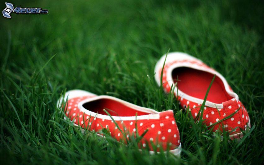 ballerinaskor, gräs