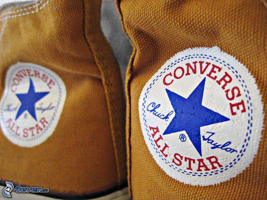 Converse, bruna gymnastikskor