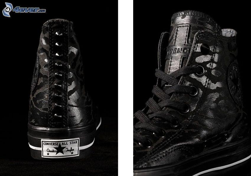 Converse, svarta sneakers