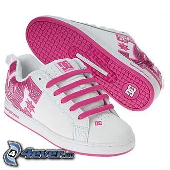 DC Shoes, rosa gymnastikskor