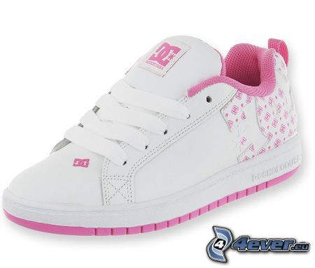 DC Shoes, vit tennissko