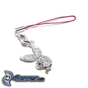 hängsmycke, Playboy, smycke, diamant, glans