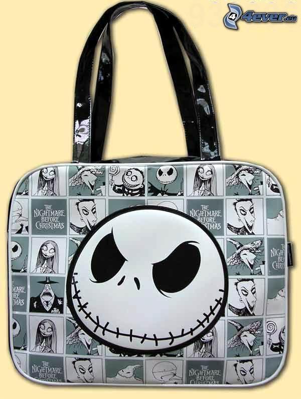 Jack Skellington, väska, handväska, Döden, emo