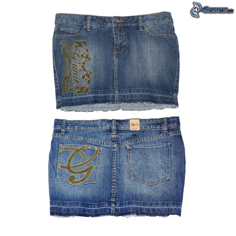 jeans, kjol