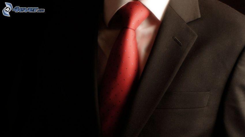 kostym, slips