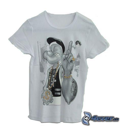 Popeye, rapper, T-shirt