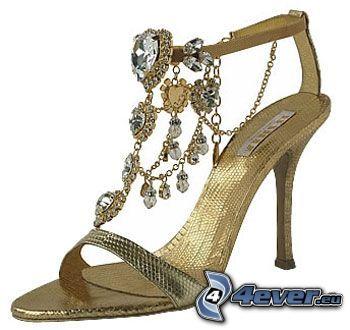 sko, smycke, klack