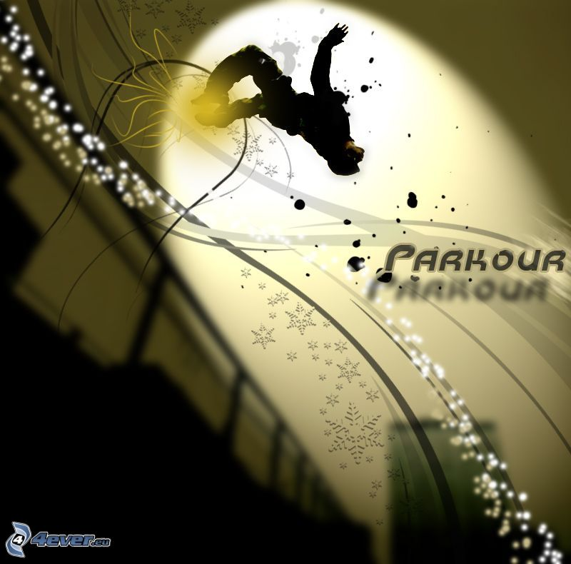 parkour, hopp, backflip