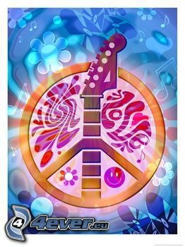 peace, gitarr