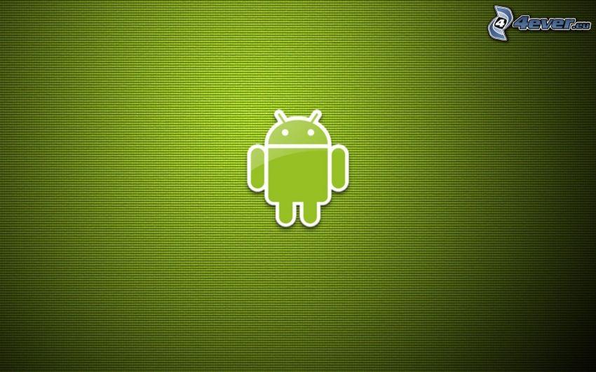 Android, grön bakgrund