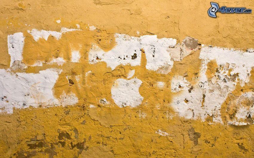 Apple, gammal mur