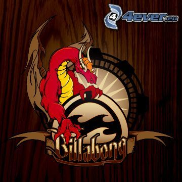 billabong, röd drake