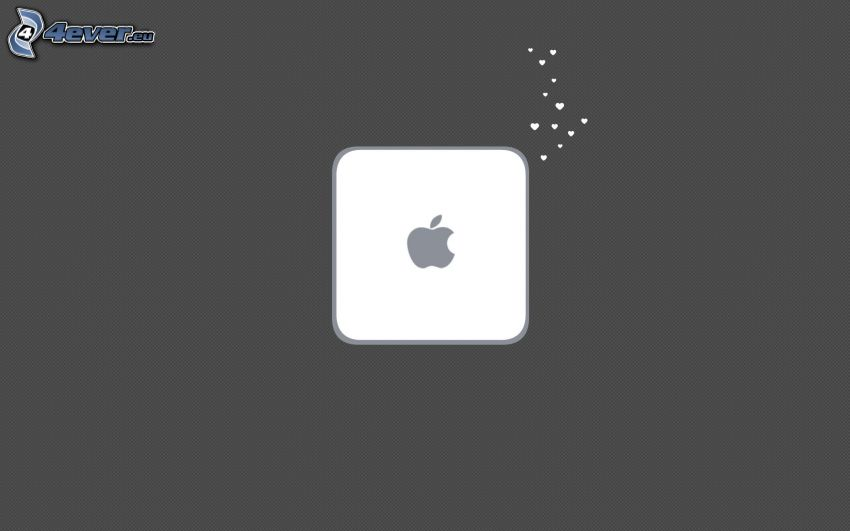 Mac Mini, Apple, fyrkant, hjärtan