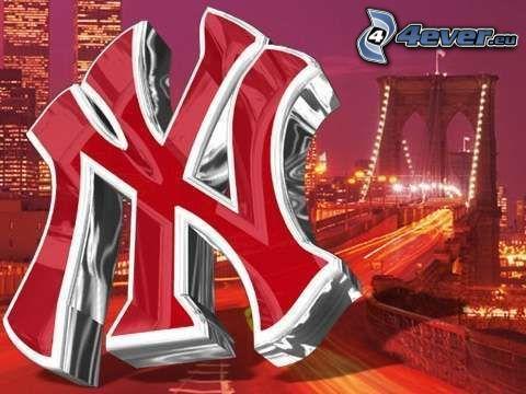 New York Yankees, logo, Brooklyn Bridge