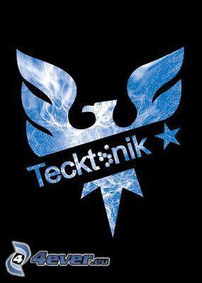 tecktonik, logo, fågel