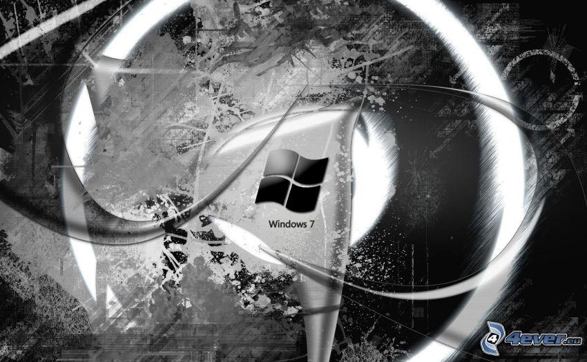 Windows 7, logo, abstrakt