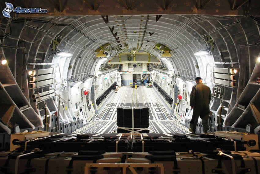 Boeing C-17 Globemaster III, interiör