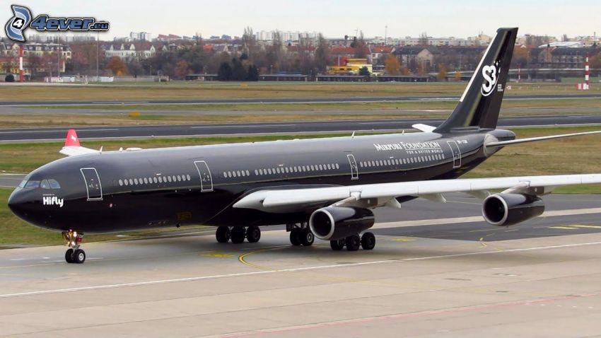 Airbus A340, flygplats