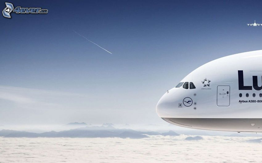 Airbus A380, himmel