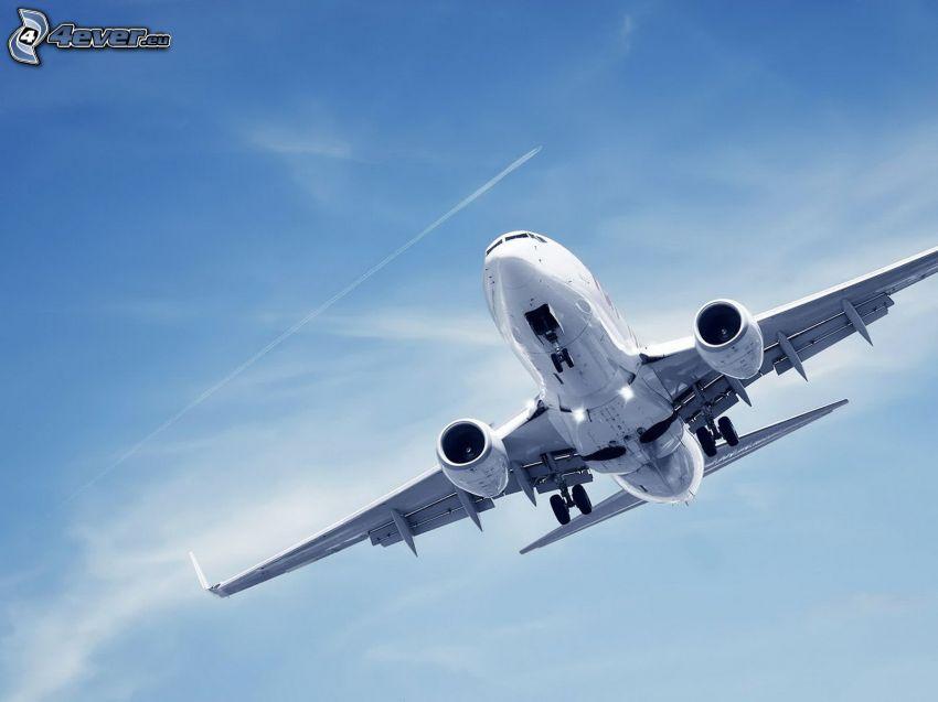 Boeing 737, landning