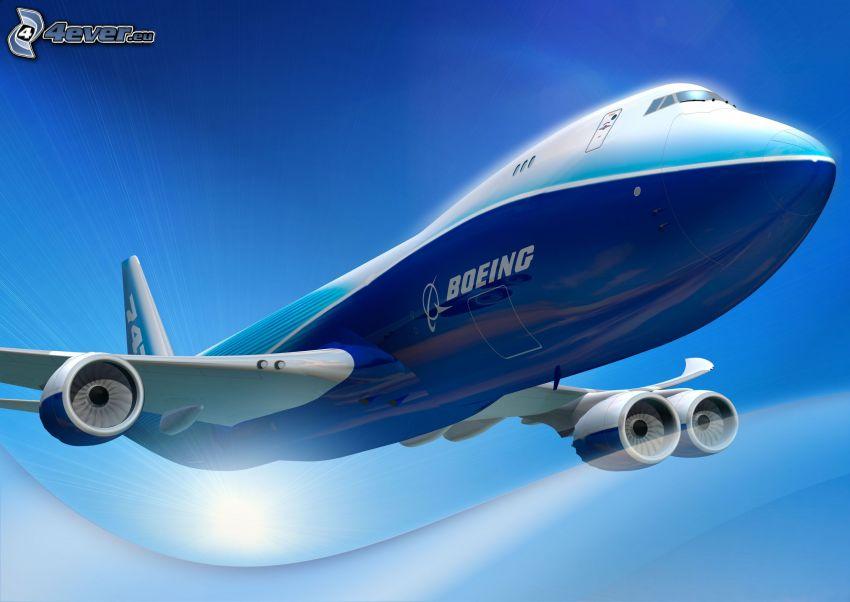 Boeing 747 Dreamliner, koncept, flygplan