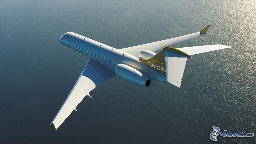 Bombardier CRJ 200, Global Express, hav, privat jetplan