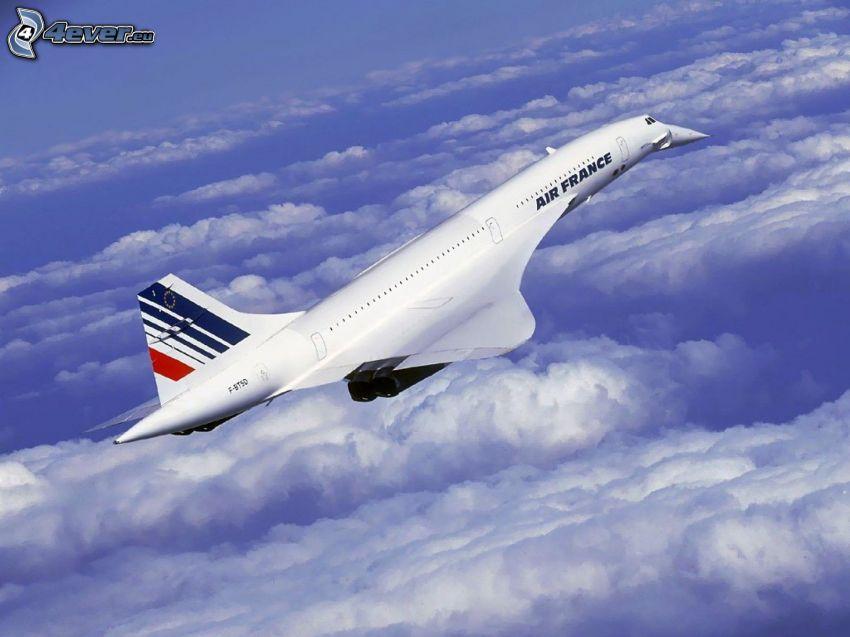 Concorde, Air France, moln