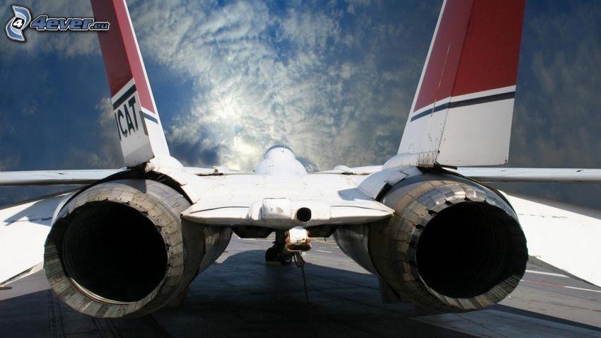 flygplan, jetmotorer