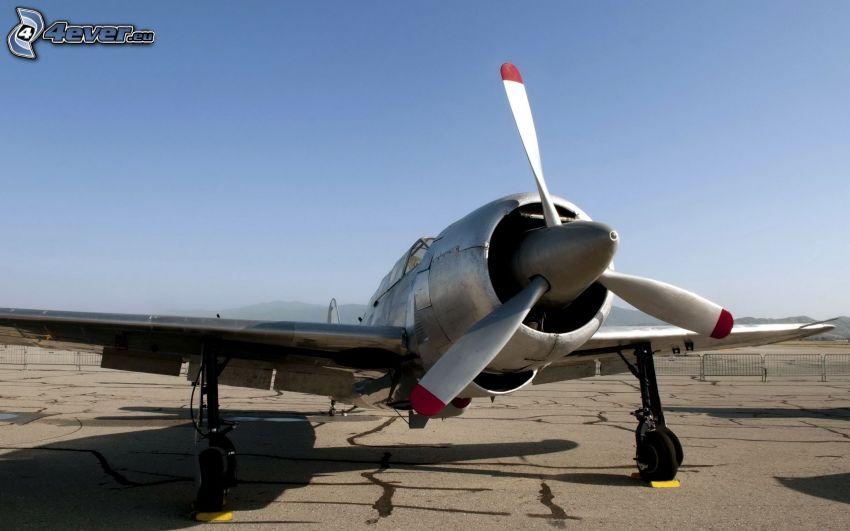 flygplan, propeller