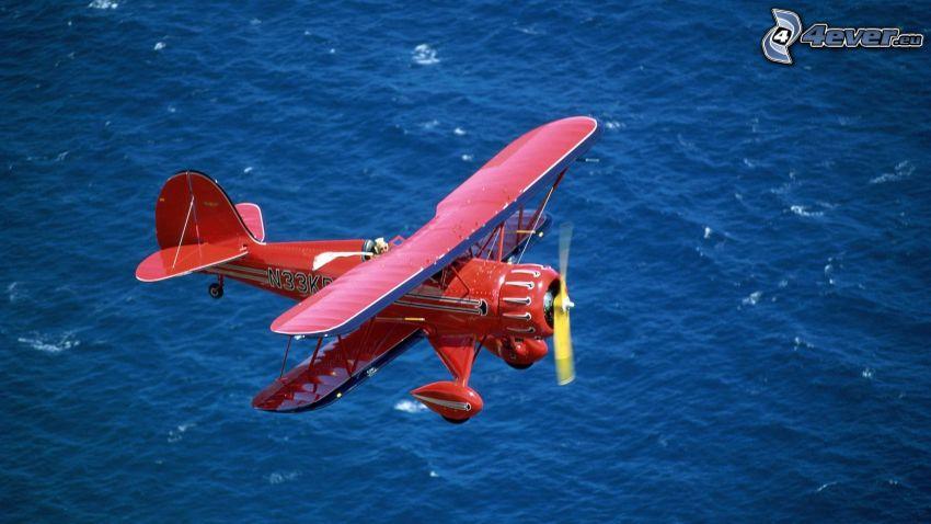 flygplan, vatten