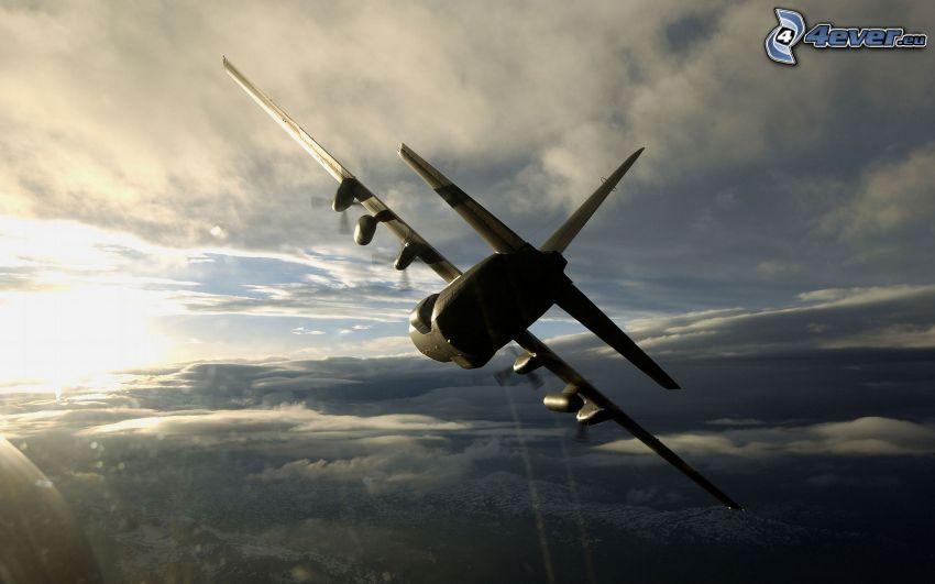 Lockheed C-130 Hercules, silhuett av flygplan