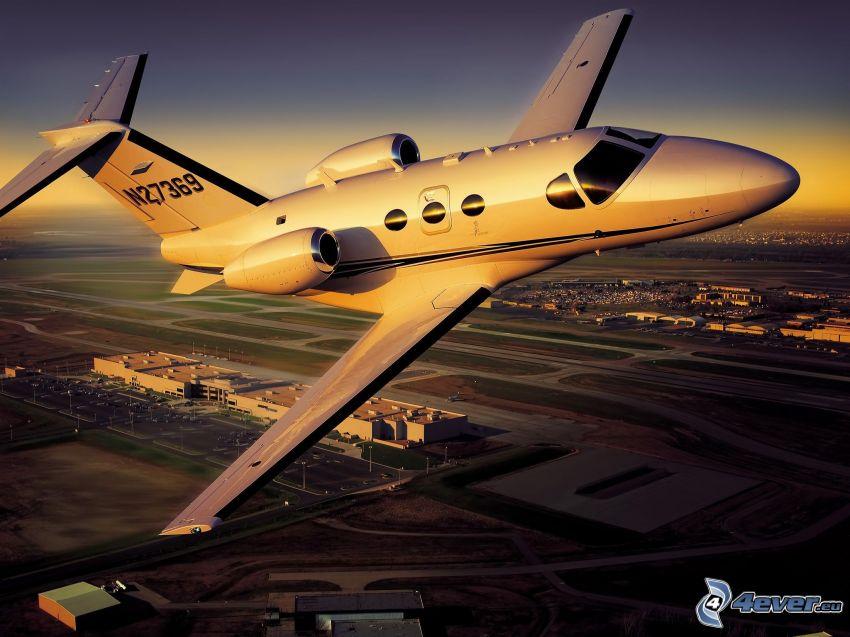 privat jetplan, flygplats