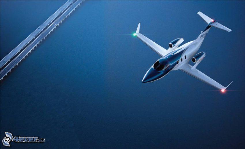 privat jetplan, motorvägsbro