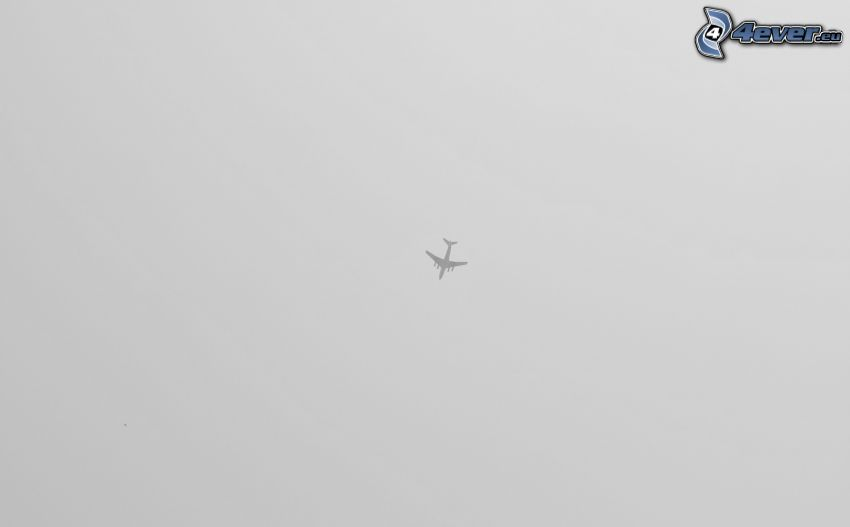 silhuett av flygplan